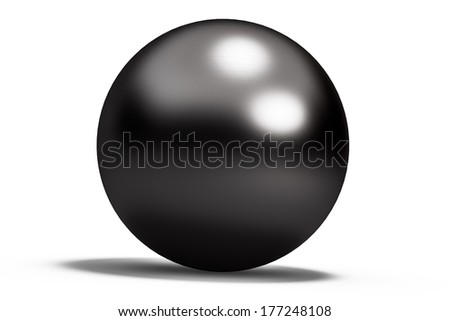 black geometric shapes sphere