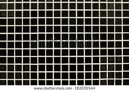 black glass mosaic for background - stock photo