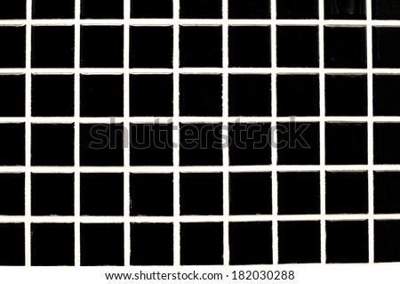 black glass mosaic in the bathroom