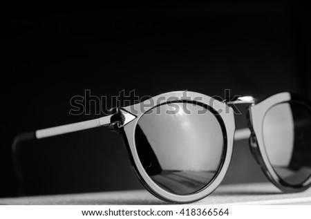 black glasses - stock photo