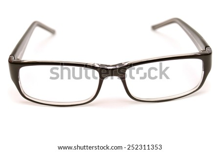 Black glasses isolated on white background