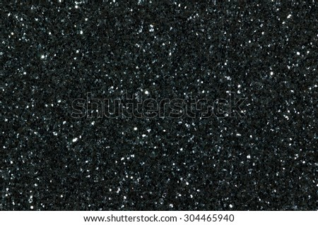 black glitter texture christmas abstract background - stock photo
