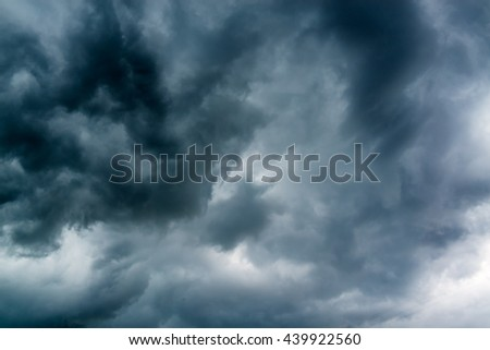 Black gloomy clouds sky - stock photo