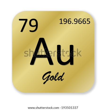 Gold periodic table stock images royalty free images vectors black gold element into golden square shape isolated in white background urtaz Choice Image