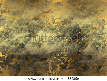 Black golden abstract     painted   background  for  design .