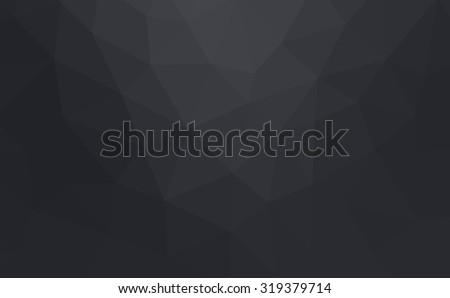 black Gray Polygonal Mosaic Background, illustration, Creative Business Design Templates - stock photo