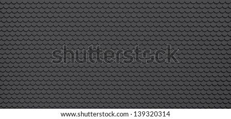 Black / grey roof tiles, architecture background - stock photo