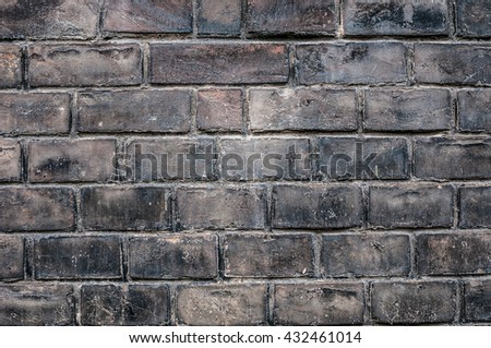 Black grunge brick wall background