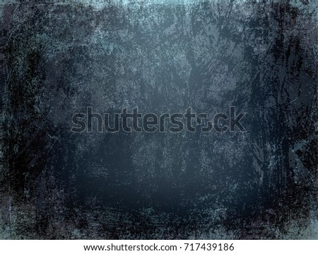 Black Grunge Wall Texture Rough Scratched Background Old Rustic