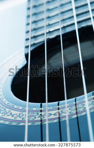 Black guitar and details