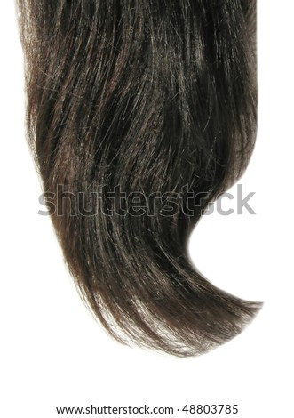 black hair wave isolated on white background
