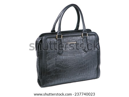 black hand bag  isolated on white