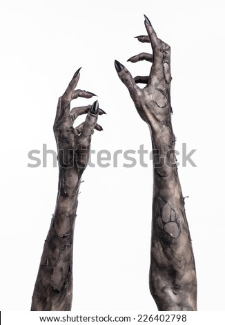 how to draw monsters hands sticking out of the ground