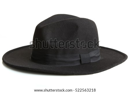 Black hat isolated on white background