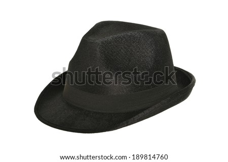 black hat on white - stock photo