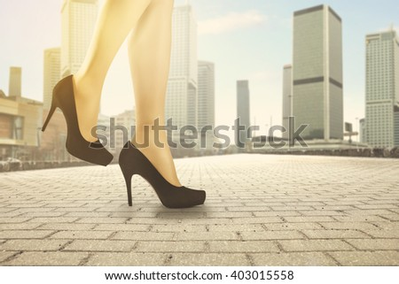 black heels  - stock photo