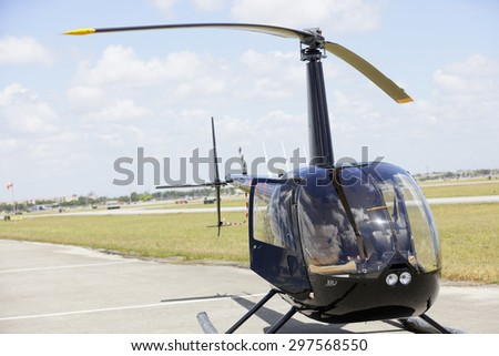 Black helicopter - stock photo