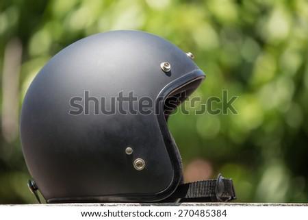 Black Helmet - stock photo