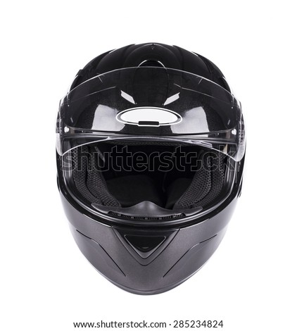 Black helmet Isolated on white
