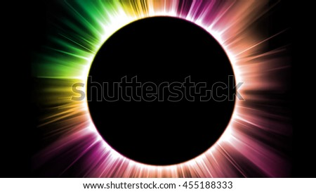 Black hole and colorful light beams