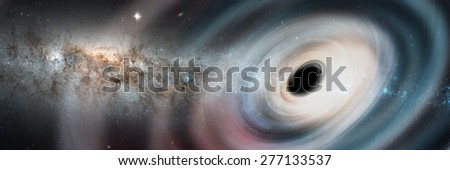 "Black hole. ""Elements of this image furnished by NASA"""
