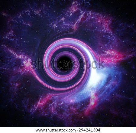 Black hole in space. Abstract background. Elements of this image furnished by NASA. - stock photo