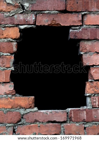 Brick Wall Hole Stock Photos, Images, & Pictures ...