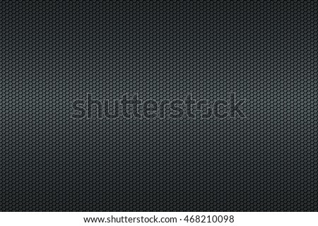 Black honeycomb Carbon fiber background, black texture