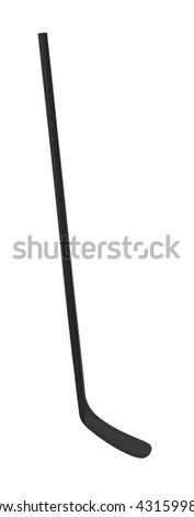 Black ice hockey stick - stock photo