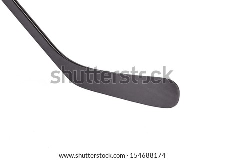 Black ice hockey stick. Isolated on a white background. - stock photo
