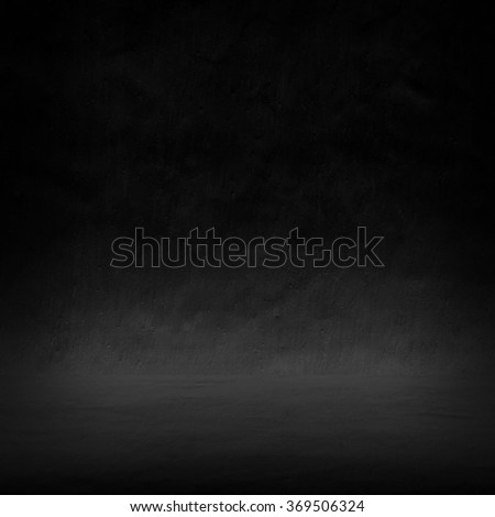 black interior background - stock photo