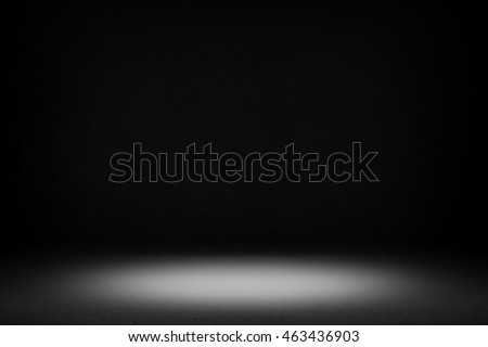 black interior with light background