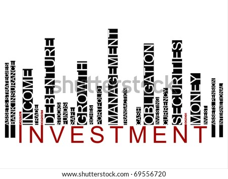black investment  bar-code - stock photo