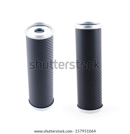 Black kaleidoscope on white background - stock photo