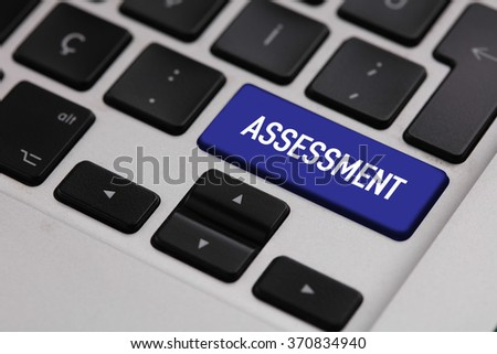 Black keyboard with ASSESSMENT button
