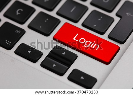 Black keyboard with LOGIN button - stock photo
