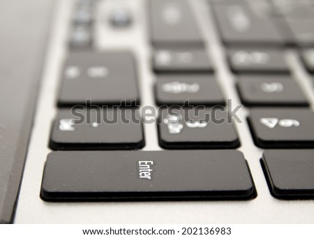 black keyboard with white letters, macro