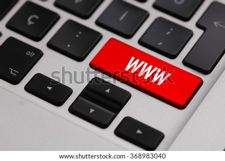 Black keyboard with WWW button