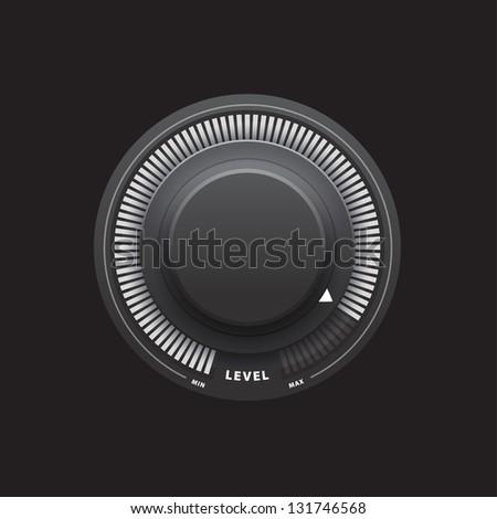 Black knob - stock photo