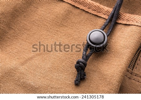 Black lace of brown bag - stock photo