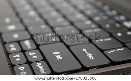 Black laptop keyboard - stock photo