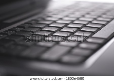 Black laptop keyboard