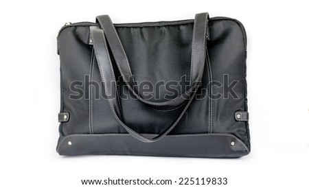 Black laptop or notebook bag. Isolated on white background.