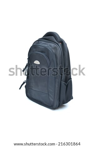 black  laptopbag isolated on white background