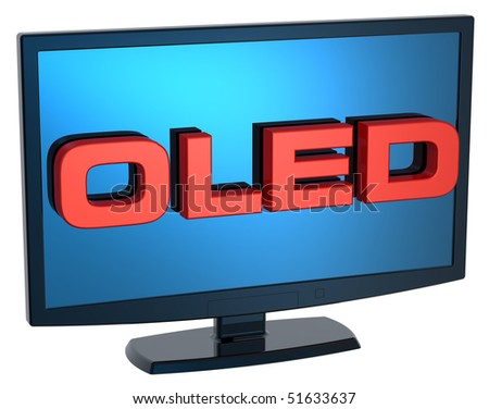 Black Lcd tv monitor on white background. Computer generated 3D photo rendering.