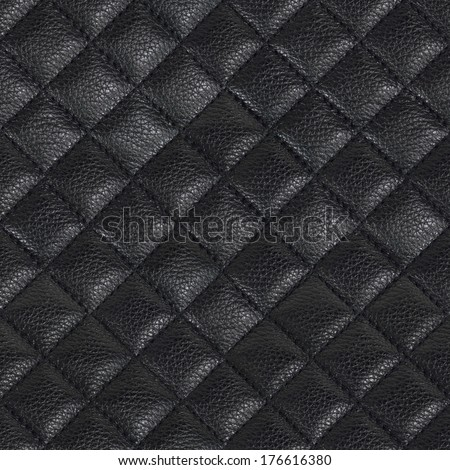 Black leather background,Black leather texture - stock photo