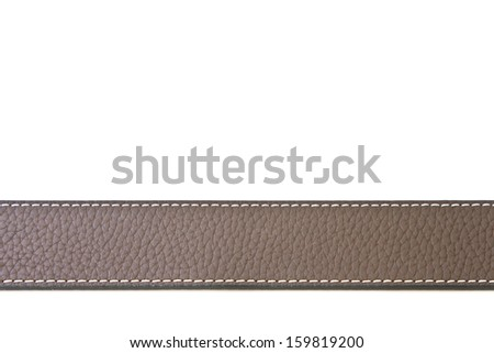 Black leather belt isolated on white background  - stock photo