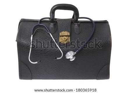 Black leather doctors  - stock photo