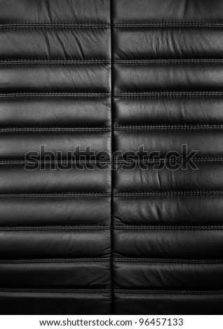 black leather office armchair texture - stock photo