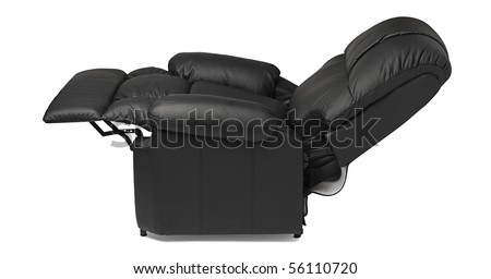 Black leather recliner armchair with massage and foot rest in reclined position isolated on white  sc 1 st  Shutterstock & Recliner Chair Stock Images Royalty-Free Images u0026 Vectors ... islam-shia.org